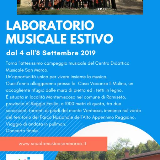 Laboratorio estivo musicale 2019